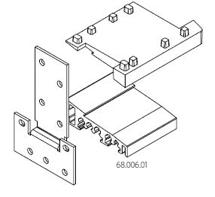 Для дверных порогов высотой 20 мм с открыванием двери вовнутрь, соединитель порогов