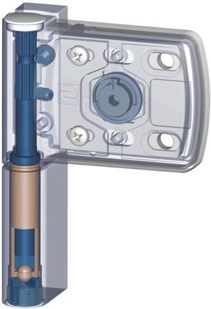 Дверная петля m-tec II с уголком на 100 кг